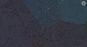 Screenshot: Santiago | AMoDeus - Autonomous Mobility-on-Demand Simulation